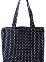 Strandtasche - Shopper aus Cotton. Maritime Strandtasche Anker Design